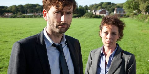 NEW SERIES  BROADCHURCH FOR ITV  EPISODE 2  Broadchurch is a new eight part drama series by Kudos Film and Television for ITV. The star-studded cast includes David Tennant, Olivia Colman, Andrew Buchan, Jodie Whittaker, Vicky McClure, Pauline Quirke, Will Mellor, Arthur Darvill and Carolyn Pickles.  This brand new eight part series is written and created by Chris Chibnall (Law and Order: UK, Doctor Who) and will explore what happens to a small community in Dorset when it suddenly becomes the focus of a police investigation, following the tragic and mysterious death of an eleven year old boy under the glare of the media spotlight.  Bloodied and dirty, Danny Latimer (Oskar McNamara) has been found dead on an idyllic beach surrounded by rocks and a jutting cliff-face from where he may have fallen. Whilst his death remains unresolved, the picturesque seaside town of Broadchurch is at the heart of a major police investigation and a national media frenzy.    Pictured : DAVID TENNANT as Alec Hardy and  OLIVIA COLMAN as Ellie Miller.  Copyright: ITV This photograph is (C) ITV Plc and can only be reproduced for editorial purposes directly in connection with the programme or event mentioned above, or ITV plc. Once made available by ITV plc Picture Desk, this photograph can be reproduced once only up until the transmission [TX] date and no reproduction fee will be charged. Any subsequent usage may incur a fee. This photograph must not be manipulated [excluding basic cropping] in a manner which alters the visual appearance of the person photographed deemed detrimental or inappropriate by ITV plc Picture Desk.