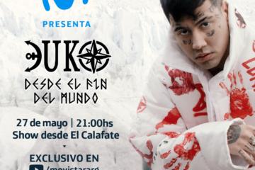 """Duki y Movistar se unen y sorprenden con un show """"Desde el fin del Mundo"""""""